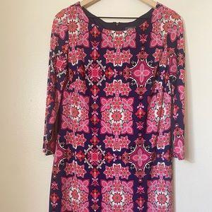 Vince Camuto Pink purple Floral print shift dress